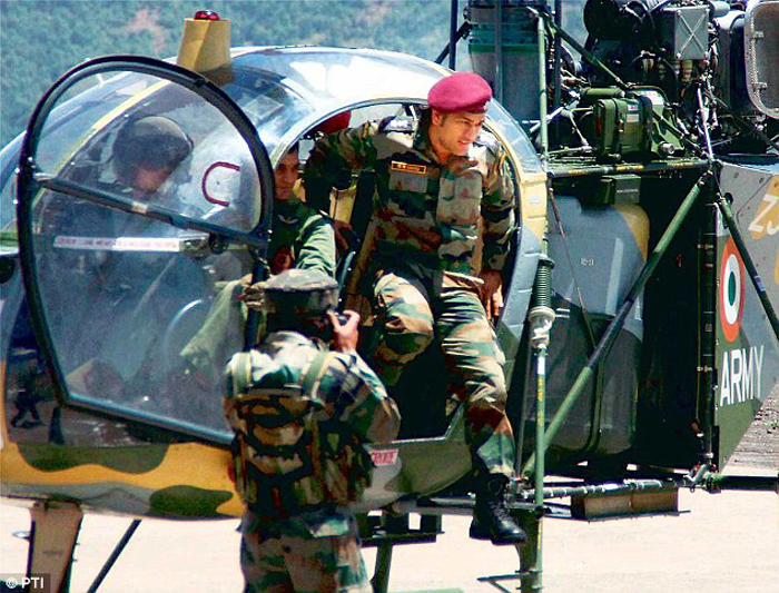 MS Dhoni was conferred the title of honorary lieutenant colonel in November 2011.