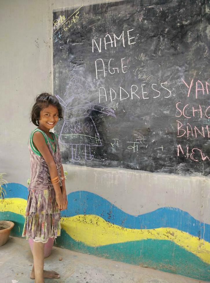 Almost 200 Poor Kids study at Rajesh Sharma's school
