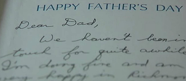 Duane Schrock letter to father