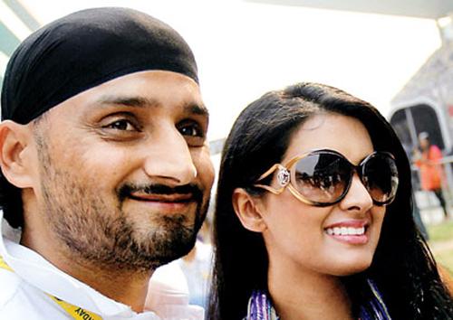 Harbhajan Singh with Geeta Basra