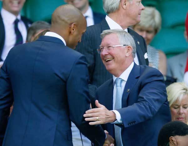 Thierry Henry meeting Alex Ferguson