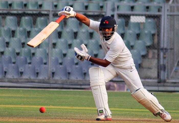 Hiken Shah had decent returns for the Mumbai Ranji team.