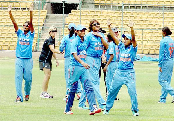 India women's team celebrate