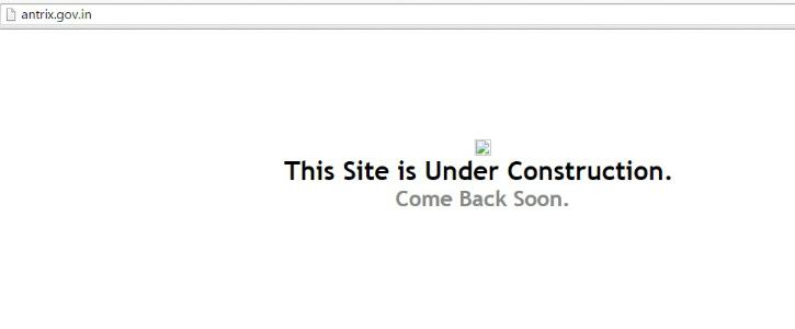 Antrix site hacked