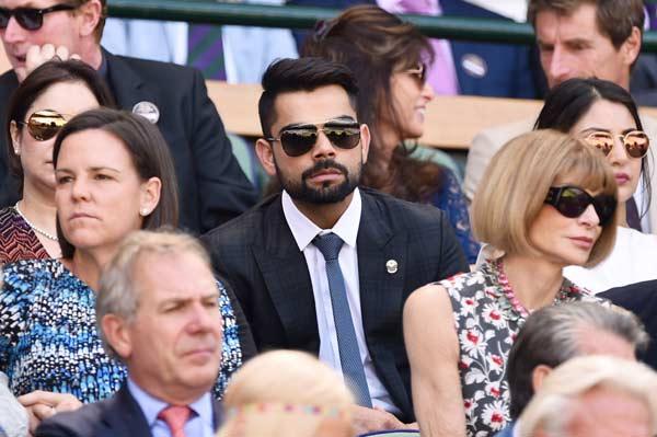 Kohli at Wimbledon with Anushka