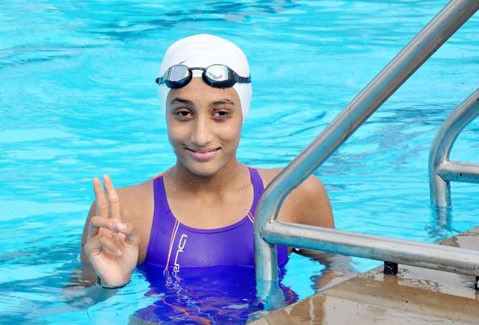 Maana Patel has broken several national records in swimming.