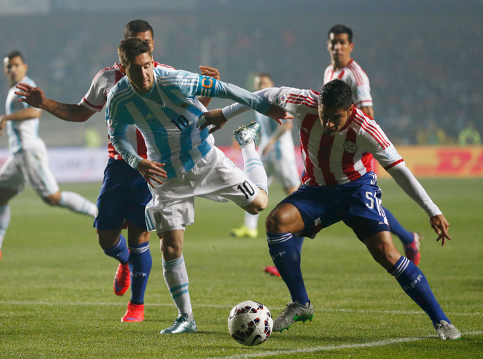 Lionel Messi wrecked havoc in the mid-field as Argentina thrashed Paraguay in the Copa America semi-final