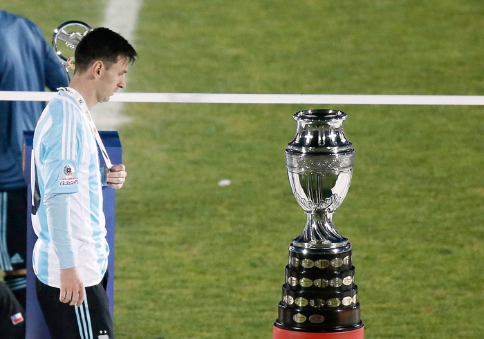 Messi's family was apparently attacked by Chilean fans during the first half of the Copa America final.