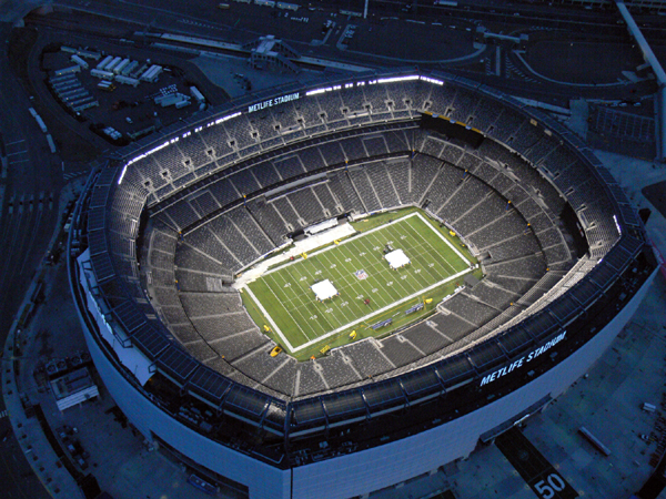 Overhead shot of Metlife Stadium
