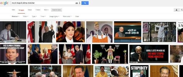 modi google result