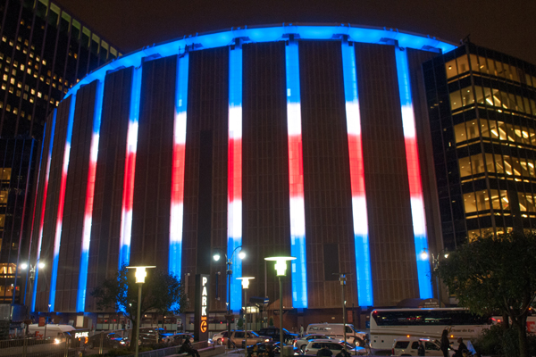 View of Madison Square Garden from outside
