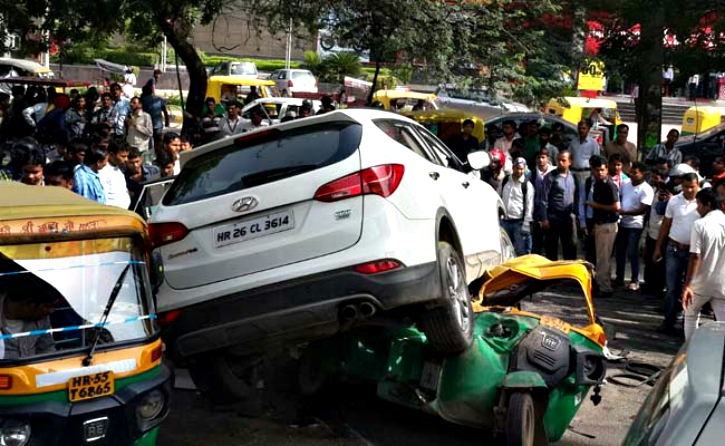 SUV crushes Auto