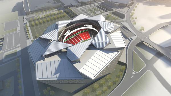 Overhead view of New Atlanta Stadium