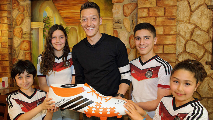 Mesut Ozil has donated money for the operation of 11 children in need in Brazil.