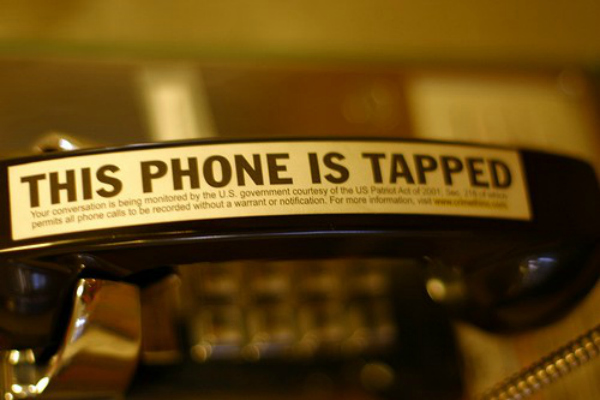Phone tapped
