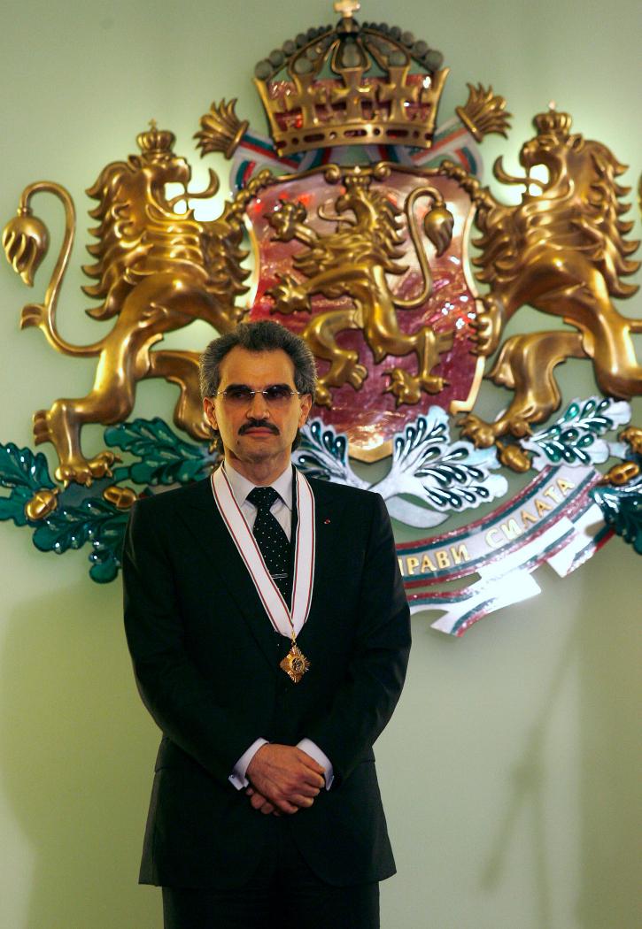 Saudi arab Al-Waleed bin Talal donates entire fortune to charity