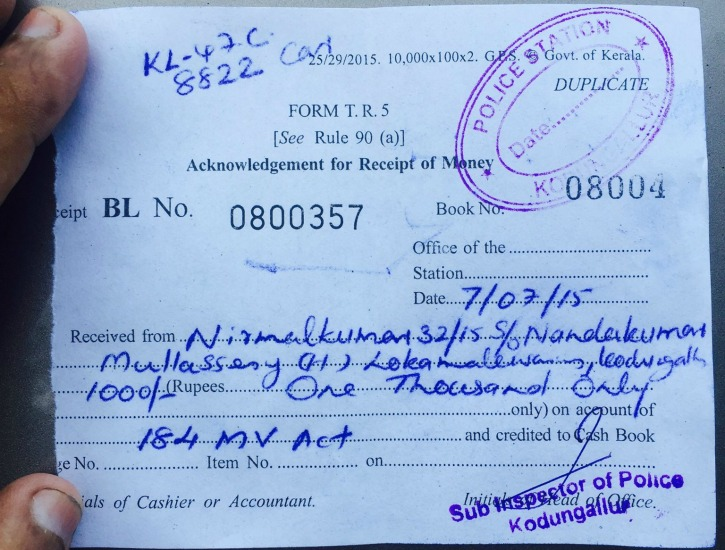 Nirmal kumar was forced to pay a fine for a crime he did not commit