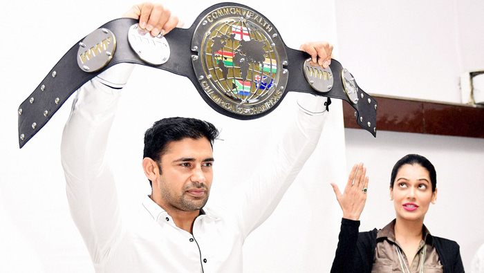 Sangram is the first Indian to win the WWP commonwealth title.