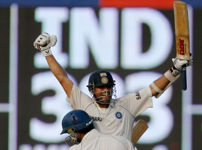 Sachin Tendulkar's century helped India chase down 387 against England, their highest successful chase at home.