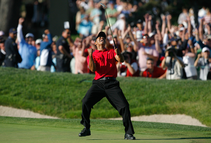 Tiger Woods won his third US Open title despite having suffered injuries on his knees