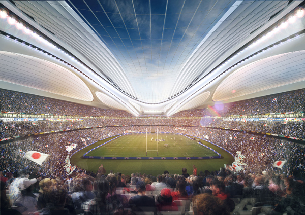 Inside view of the National Stadium in Tokyo, home to the 2020 Olympics