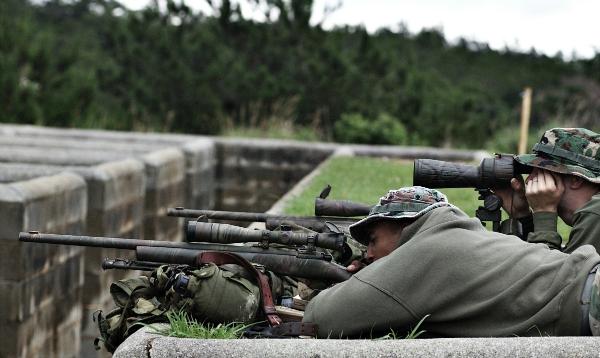 sniper rifle fire