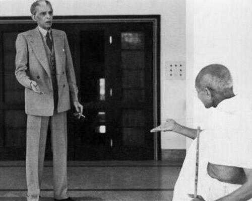 Mohammad Ali Jinnah and Mahatma Gandhi