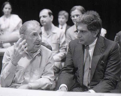 JRD with Ratan Tata