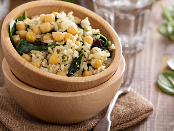 Diabetic Friendly Recipe: Channa Spinach Rice