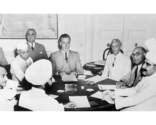 Lord Mountbatten meets Nehru, Jinnah and other Leaders