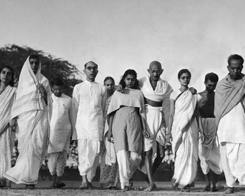 Mahatma Gandhi on Morning walk