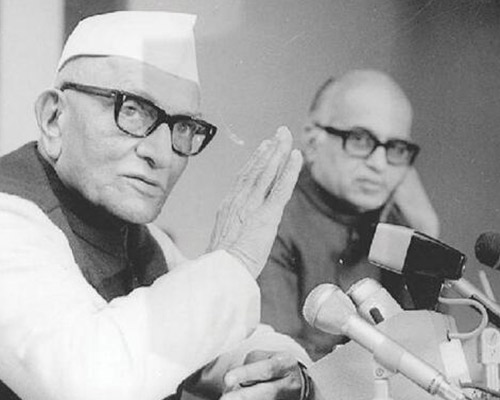 Morarji Desai with Lal Krishna Advani