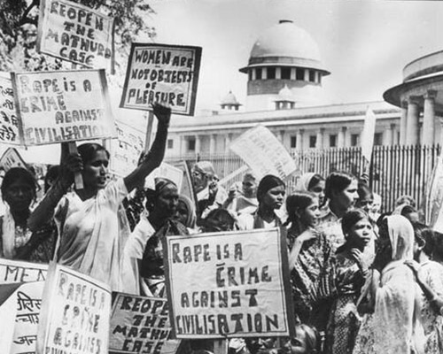 Protest outside the Supreme Court, New Delhi