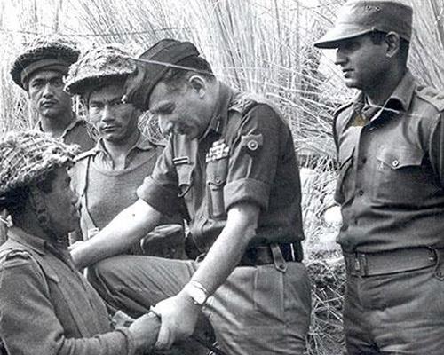 General Manekshaw with Army jawans