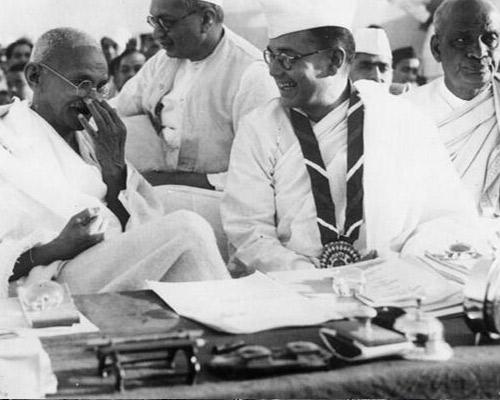 Subhas Chandra Bose, Mahatma Gandhi and Sardar Patel