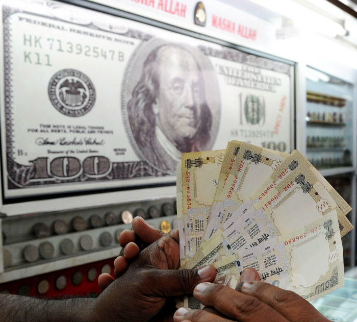 rupee dollar india