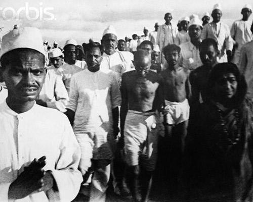 Mahatma Gandhi on The Dandi Salt March