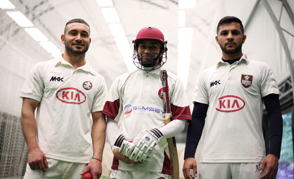 From left to right - Arman, Mati and Haroon