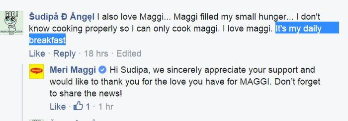 maggi breakfast