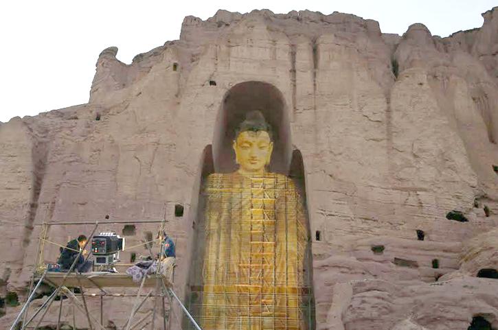 Bamiyan buddha recreated on june 7