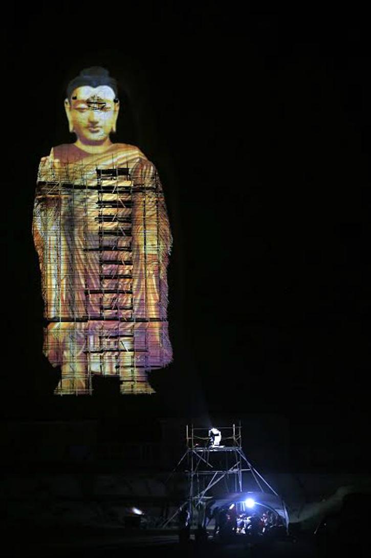 3 D Projection brings Bamiyan Buddha back to life.