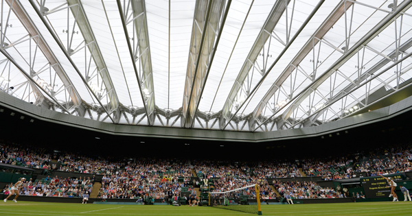 Due to the threat of rain, Wimbledon installed a roof on Centre Court in 2009.