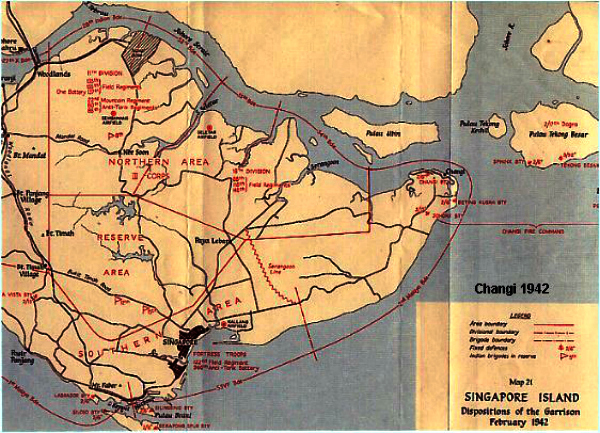 Changi prison in 1942