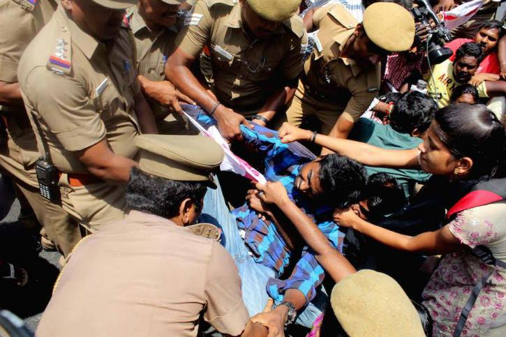 Chennai protests