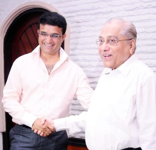 Sourav Ganguly with BCCI president Jagmohan Dalmiya