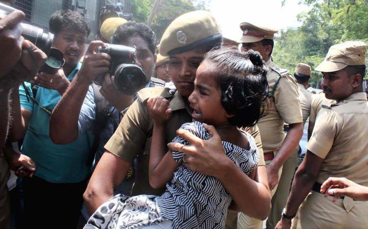 Little girl protest IIT Madras