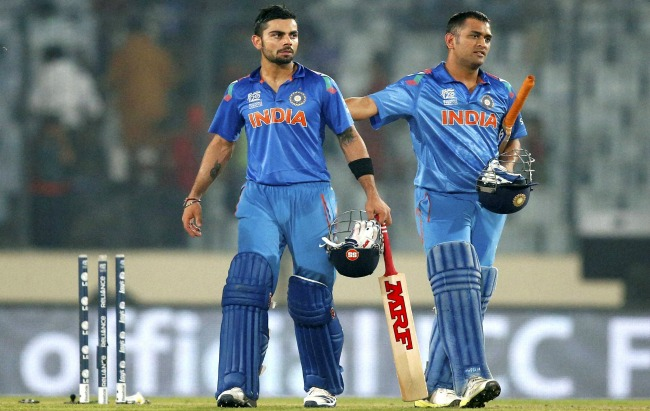 Kohli and Dhoni The two prominent stars of Indian cricket