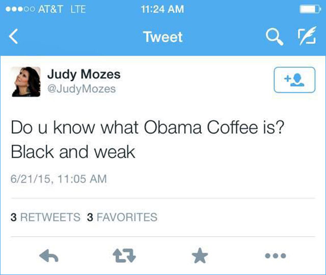 Judy Moses' tweet