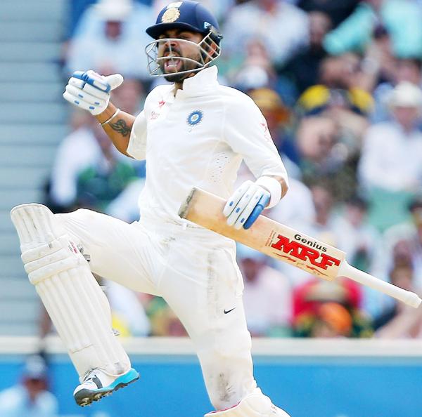 Virat Kohli jumps