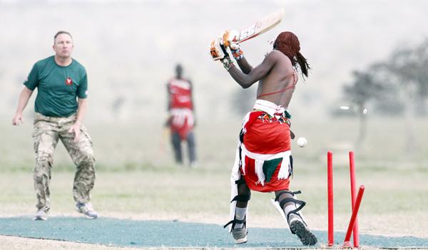 Maasai player bowled